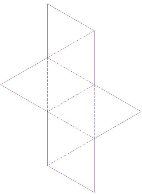 octahedron net template