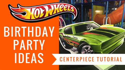 free wheels centerpiece birthday ideas