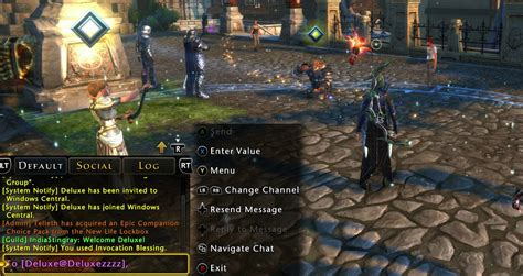 xbox live chat rooms how to chat like a pro in neverwinter for xbox one