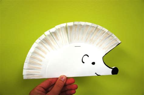 Paper Craft Four Toed Hedgehog paper plate hedgehog craft school ideas