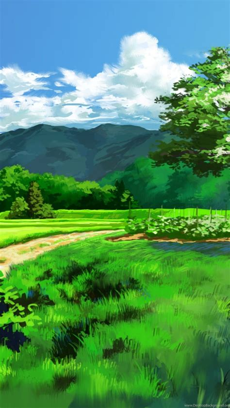 anime landscape dual screen  wallpapers desktop background