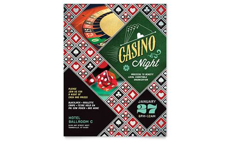 Casino Night Flyer Template Design Casino Flyer Template Free