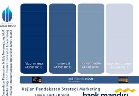email kartu kredit mandiri strategi marketing kartu kredit mandiri 2008