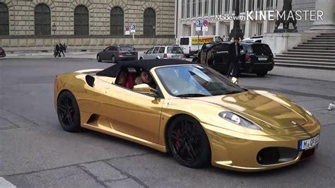 ferrari gold ferrari f430 gold youtube