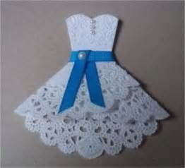 paper doily dress so cute for a bridal shower invitation