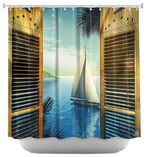 beach style shower curtains shower curtain artistic set sail beach style shower
