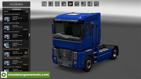 ets 2 renault magnum mack drivetrain revision truck v1 0 1 1 27 x simulator games mods