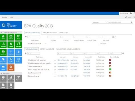 Bpa Quality Management Systems Overview For Sharepoint 2013 Youtube Sharepoint Iso 9001 Template
