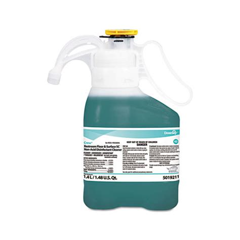 Non Acid Disinfectant Bathroom Cleaner by Diversey Crew Restroom Floor Surface Non Acid Disinfectant