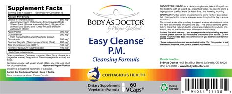 And Easy Detox Cleanse by Easy Cleanse Detox Detoxification Formula