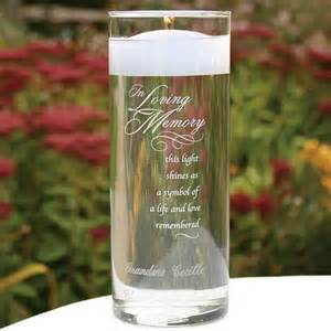 Clear glass memory cylinder with verse quot in loving memory this