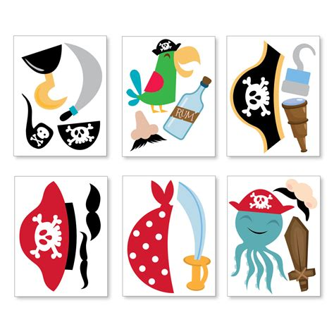 pirate photobooth props printable instant download boys pirate photo booth props pirate birthday props