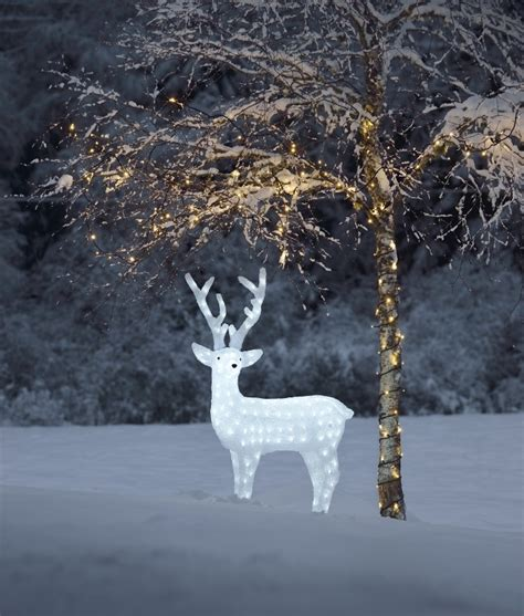 led outdoor reindeer large exterior led reindeer for