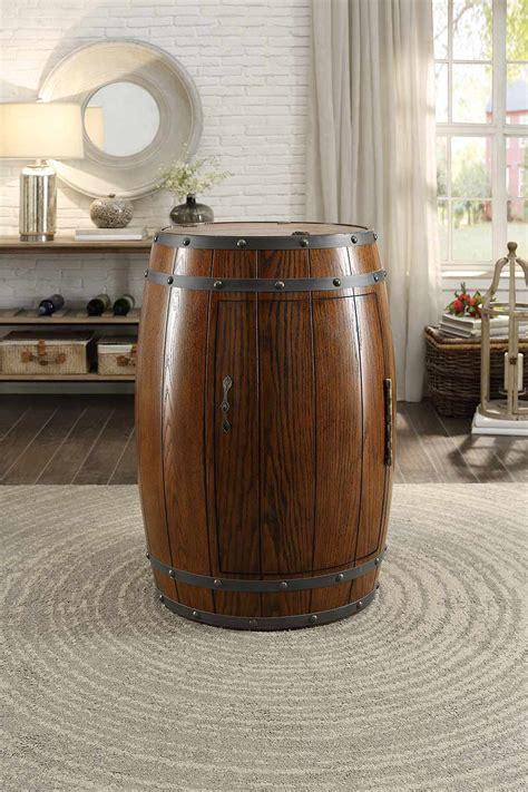 wine barrel storage cabinet homelegance cabernet wine barrel refrigerator cabinet