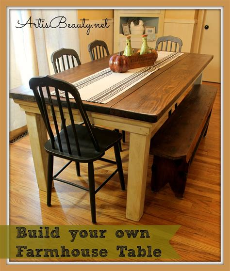 farmhouse table remix how to build a farmhouse table art is beauty how to build your own farmhouse table for