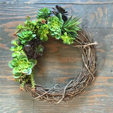 faux wreaths mixed green wreath faux succulent wreath by thewoodandthistle