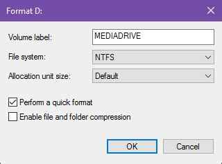 format hdd exfat allocation unit size how to format a new internal hard drive or solid state drive