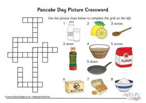 Pancake day picture crossword solution