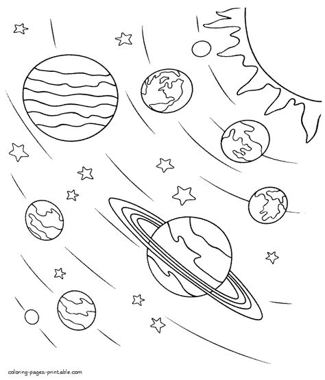 non printable space html space coloring pages