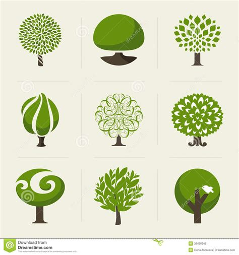 Tree Collection Of Design Elements Stock Vector Illustration Of Icon Botany 32428346 Green Tree Vector Logo Design Template Stock Vector More Images Of 2015 465664290 Istock
