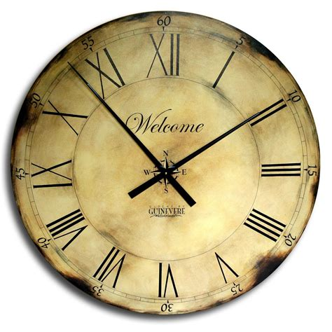 wall clock art 18in large antique style big wall clock art