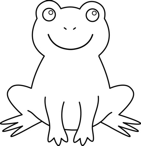 colorable cute frog free clip art
