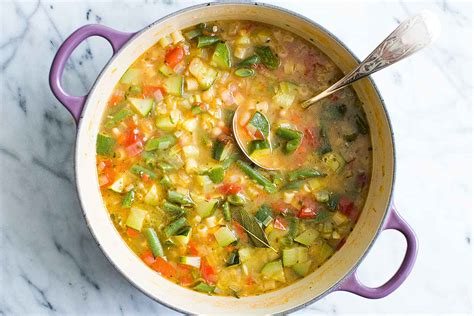 summer minestrone soup recipe simplyrecipes com