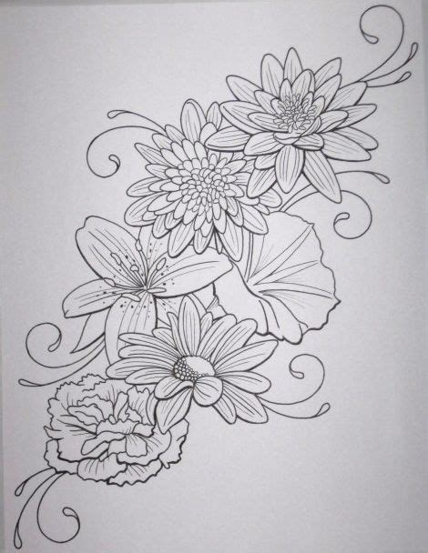 tattoo flower outline 25 best tattoo outlines images on pinterest tattoo