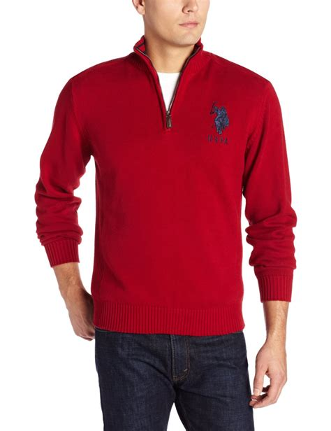 Sweater Polos u s polo assn s solid quarter zip sweater