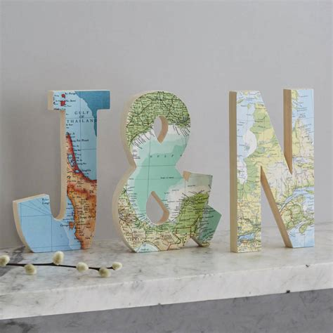 Wedding Anniversary Locations by Map Decoupage Letters My