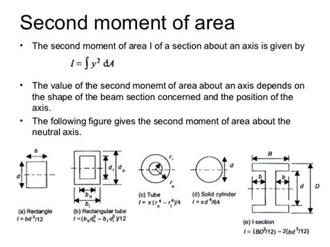 area of i section engineering science lesson 6 1