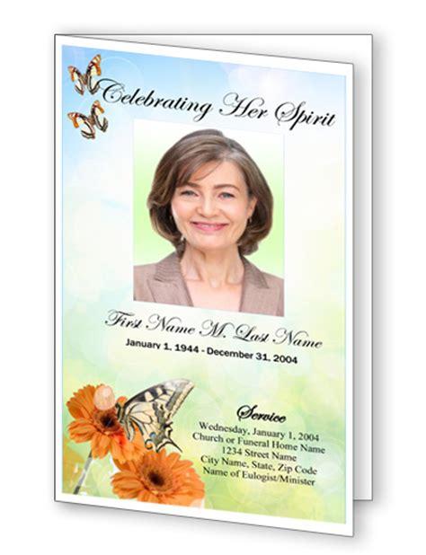 Butterfly Memorial Program Funeral Phlets memorials redesigns website