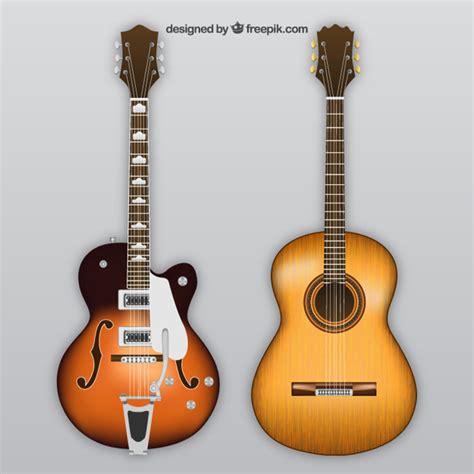 imagenes de guitarras blanco y negro guitarra el 233 ctrica y ac 250 stica descargar vectores gratis