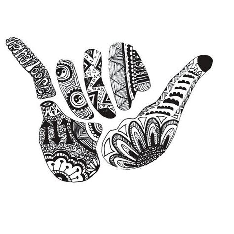 hang loose tattoo best 25 hawaiian ideas on hawaiian