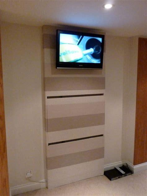 the tv wall mount desk hidden pc