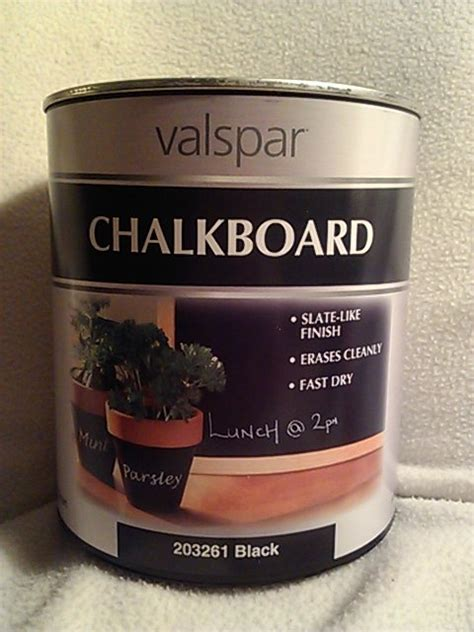 valspar chalkboard paint from lowes random stuff