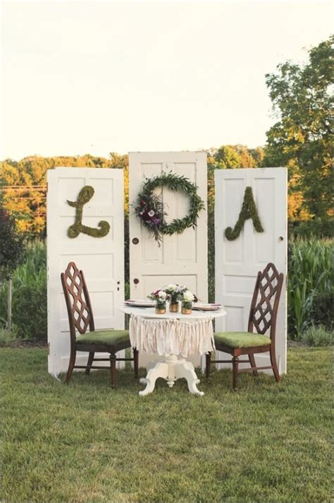 shabby chic outdoor table shabby chic wedding sweetheart table