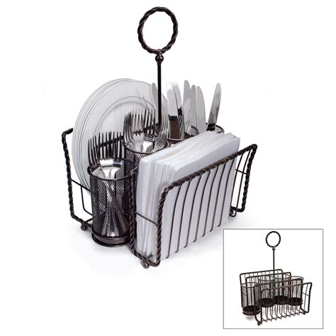 Wrought Iron Flatware buy gourmet basics picnic caddy online at mikasa com