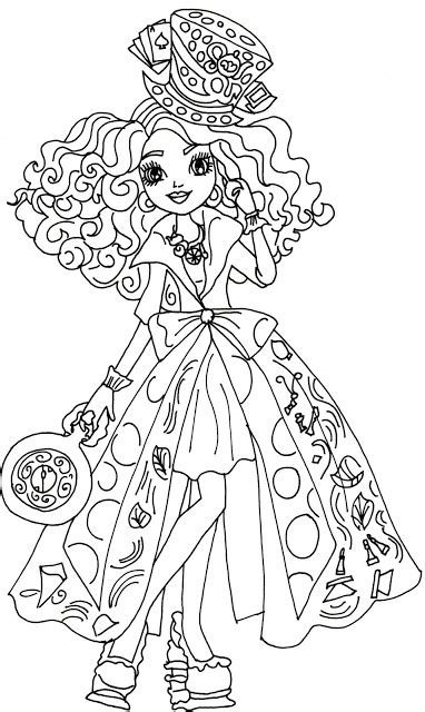 ever after high coloring pages lizzie free printable ever after high coloring pages madeline