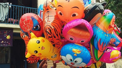 balon karakter tiup upin ipin balon helium karakter minions masha upin ipin