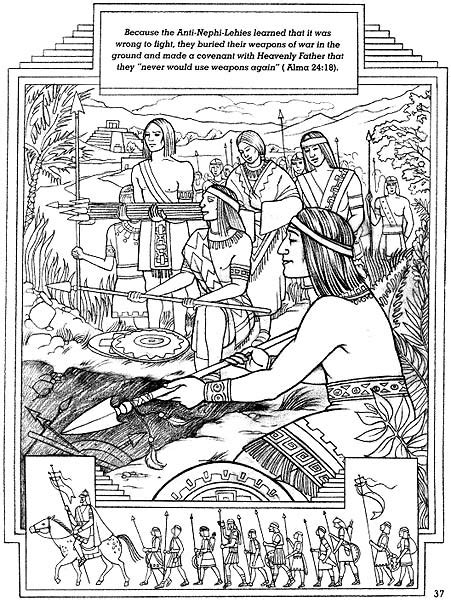 lds coloring pages lehi sharing time i believe in being honest liahona sept