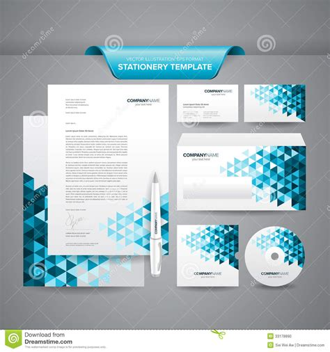 business card stationery template business stationery template stock vector illustration