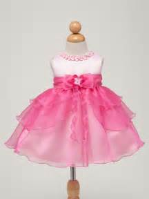 Sian pink and fuchsia infant flower girl party dress