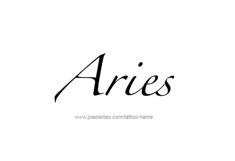 aries script aries horoscope name designs tattoos with names