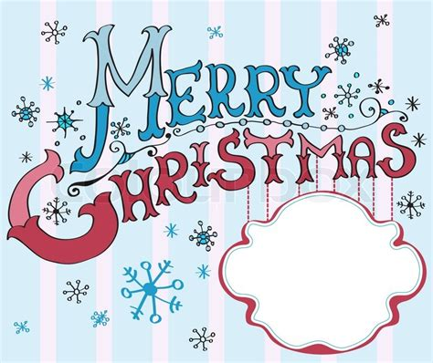 christmas card merry christmas lettering stock photo colourbox