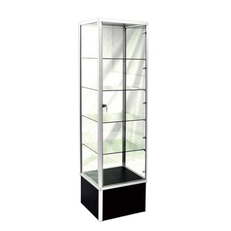 affordable glass display unit tower style w adjustable