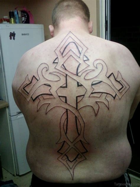 outline of cross tattoo 44 cross tattoos on back