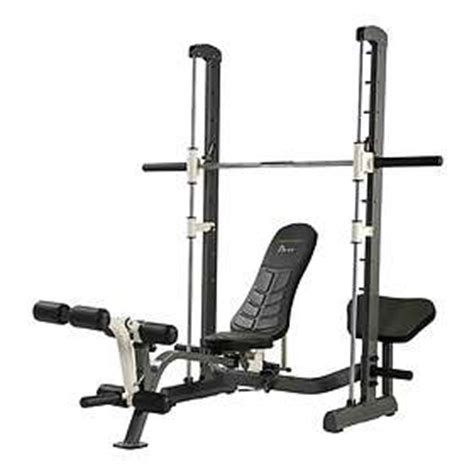 smith weight bench rack pull exercise