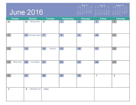 blank calendar templates for 2016 june 2016 printable calendar landscape a4 portrait