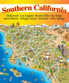 southern california attractions map quot map of southern california quot by dave